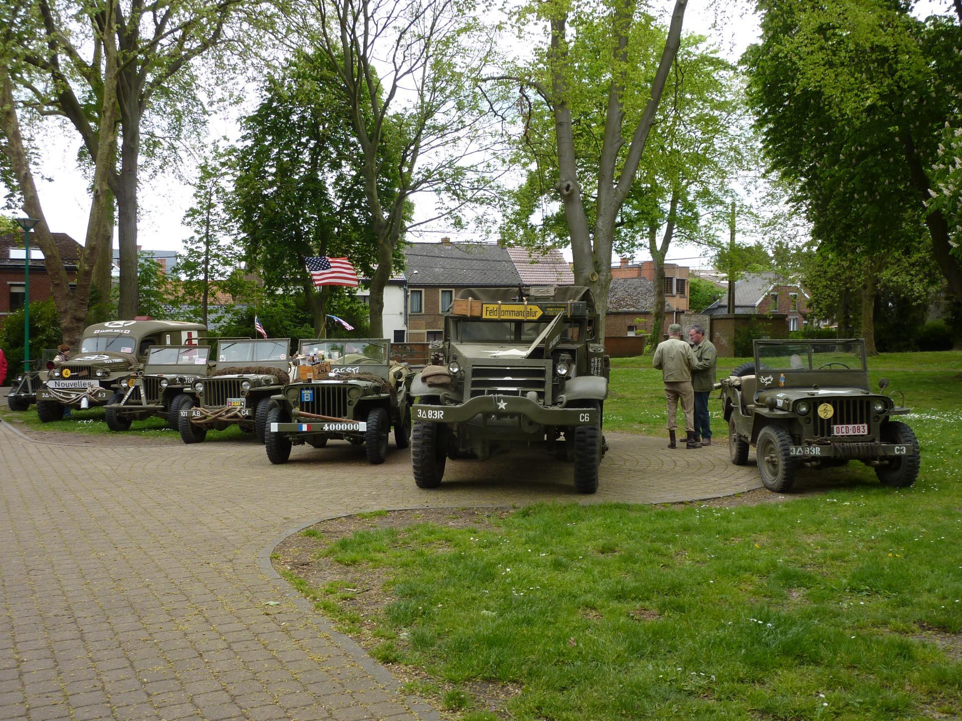 les véhicules présents